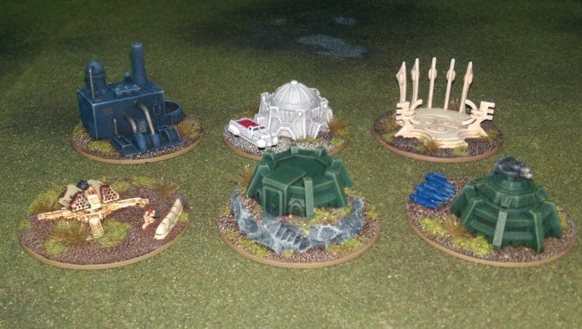 Objective markers for tournament games in Epic Armageddon