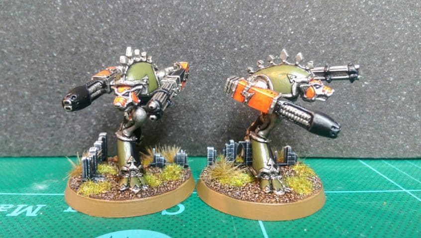 Pair of Warhound titans