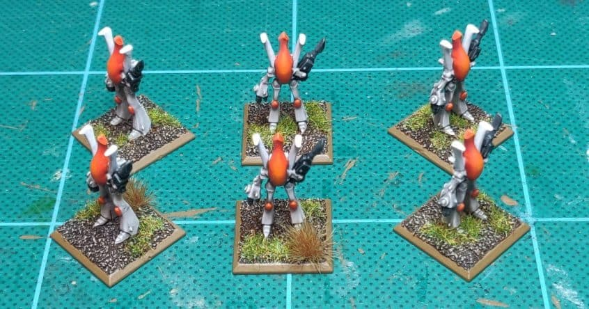 Epic Eldar Wraithlords, painted